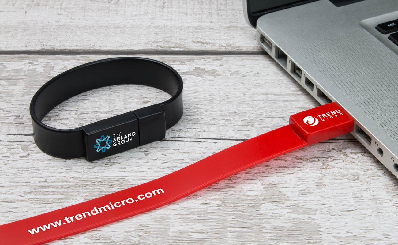 Lizzard - Clé USB Bracelet Publicitaire