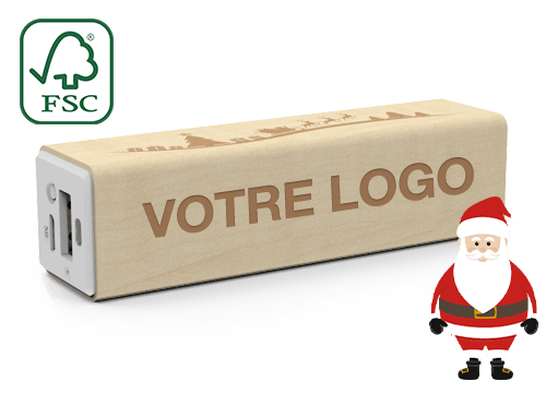 Maple Christmas - Power Bank Personnalisable