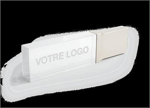 Crystal - Cle USB Personnalisée Avec Logo