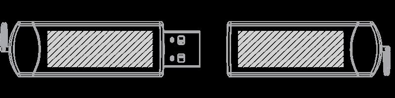 Clé USB Sérigraphie