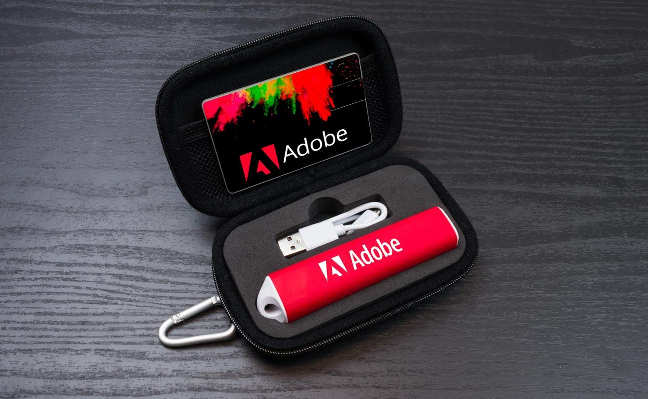 Impact S - Clé USB Personnalisée et Lot Power Bank