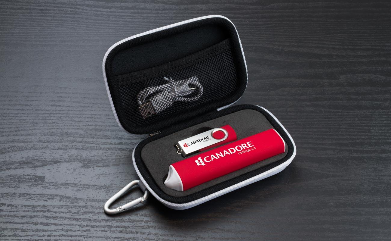 Pure S - Clé USB Personnalisée et Lot Power Bank