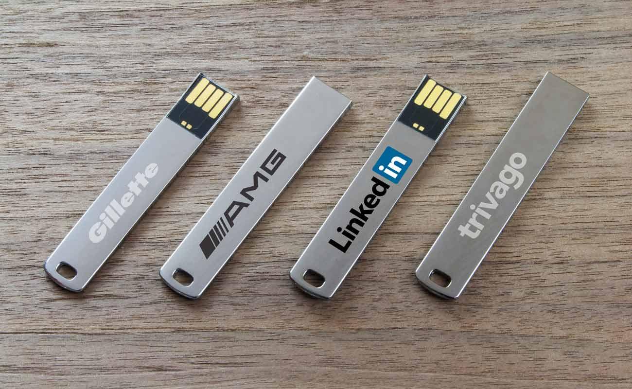 WalletStick - Clés USB plates personnalisées